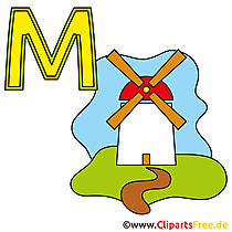 Buchstaben Vorlagen - Mühle Bild