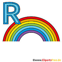 Deutsche Alphabet - Regenbogen Bild