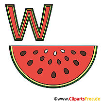 Learn German - Wassermelone Bild