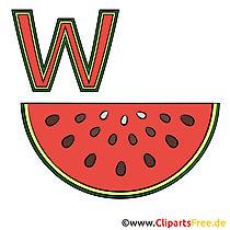 Duits leren - afbeelding watermeloen