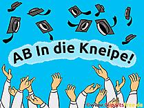 Abi Shirt Sprüche - AB In die Kneipe!