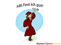 Glückwunschkarte Abitur - ABI finde ich gut!