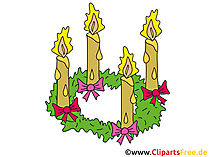 Advent Clipart zum 4 Advent