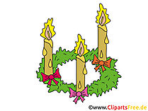 Adventskranz Clipart