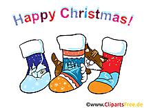 靴下とクリスマスの面白い画像
