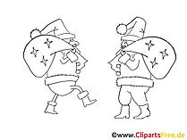 黒と白の写真Weihnachtsmaenner