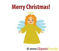 クリスマスの天使のクリップアート