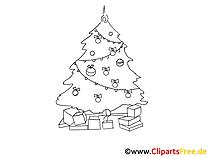 クリップアートクリスマスツリーブラックホワイト