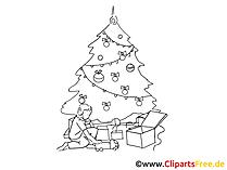 クリップアートクリスマスブラックホワイト