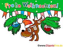 面白いクリスマスの挨拶無料クリップアート