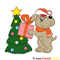 Geschenke zu Weihnachten Cartoonbild. Clipart, Grafik
