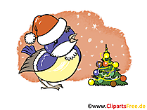 Grusskarte zu Silvester, Neujahr oder Weihnachten