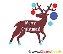 鹿のクリスマス画像、クリップアート、画像、グラフィック、無料イラスト