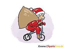 無料画像、漫画新年、新年、クリスマス