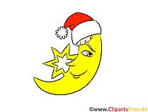 Neujahr, Silvester, Mond, Clipart, Bild