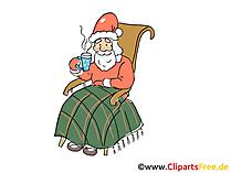 Święty Mikołaj kreskówka, clipart, obraz, grafika