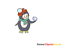 Penguin cartoon, foto, tekening
