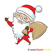 Obraz Świętego Mikołaja, clipart, grafika, ilustracja