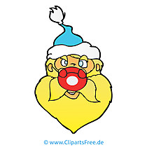 Santa Claus Clipart, Bild, Cartoon, Grafik, Illustration