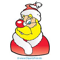 Santa Clipart, obraz, rysunek, grafika