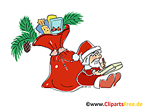 Santa Klaus Bild, Cartoon, Clipart