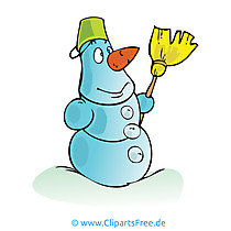 Schneemann Clipart, Bild, Cartoon, Grafik, Illustration