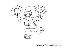 Schwarz Weiss Bild Weihnachtsmann