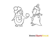 Schwarz weiss Grafiken Neujahr, Winter, Silvester, Weihnachten