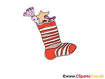 クリスマスソックスギフト画像、クリップアート、漫画