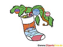 Christmas image Święty Mikołaj boot na choince