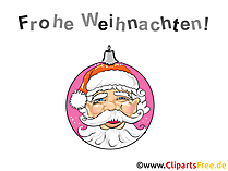 サンタとクリスマス画像-無料クリップアート
