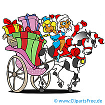 Weihnachtsmann Bild, Cartoon, Clipart, Grafik, Illustration