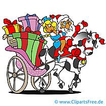 Obraz Świętego Mikołaja, kreskówka, clipart, grafika, ilustracja