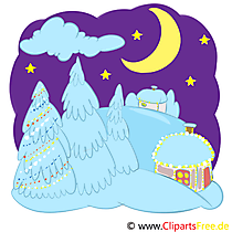 クリスマスの夜、クリスマスの夜イラスト、映像、グラフィック、クリップアート