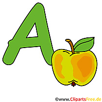 A is for Apple - Clipart Buchstaben