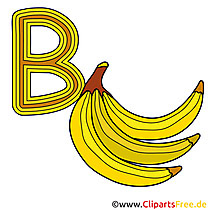 B is for Banana - Buchstaben Vorlagen