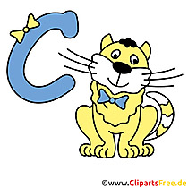 C is for Cat - Alphabet Bilder gratis