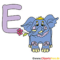 E is for Elephant - ABC Poster
