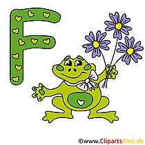 F is for Frog - Abc Cliparts