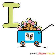 I is for Ice - Abc Clipart