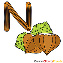 N is for Nut - Alphabet Englisch