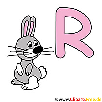 R is for Rabbit - Bilder Buchstaben