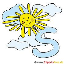 S is voor Sun - afbeeldingen met letters