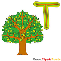 T is for Tree - Alphabet Bilder