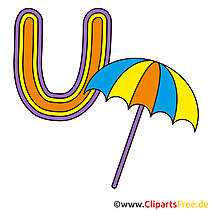 U is for Umbrella - Abc Bilder