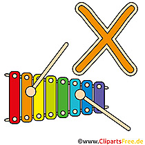 X is for Xylophone - Buchstaben Bilder