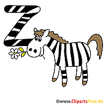 Z is for Zebra - Buchstabenvorlagen