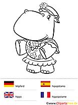 Sprach-Malbuch Deutsch-Englisch-Spanisch-Französisch
