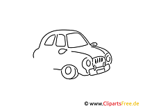 Auto einfache Weitermal Druckvorlage