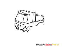 Nutzfahrzeug einfache Weitermal Druckvorlage